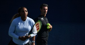 Serena Williams and Patrick Mouratoglou, archive US Open 2019