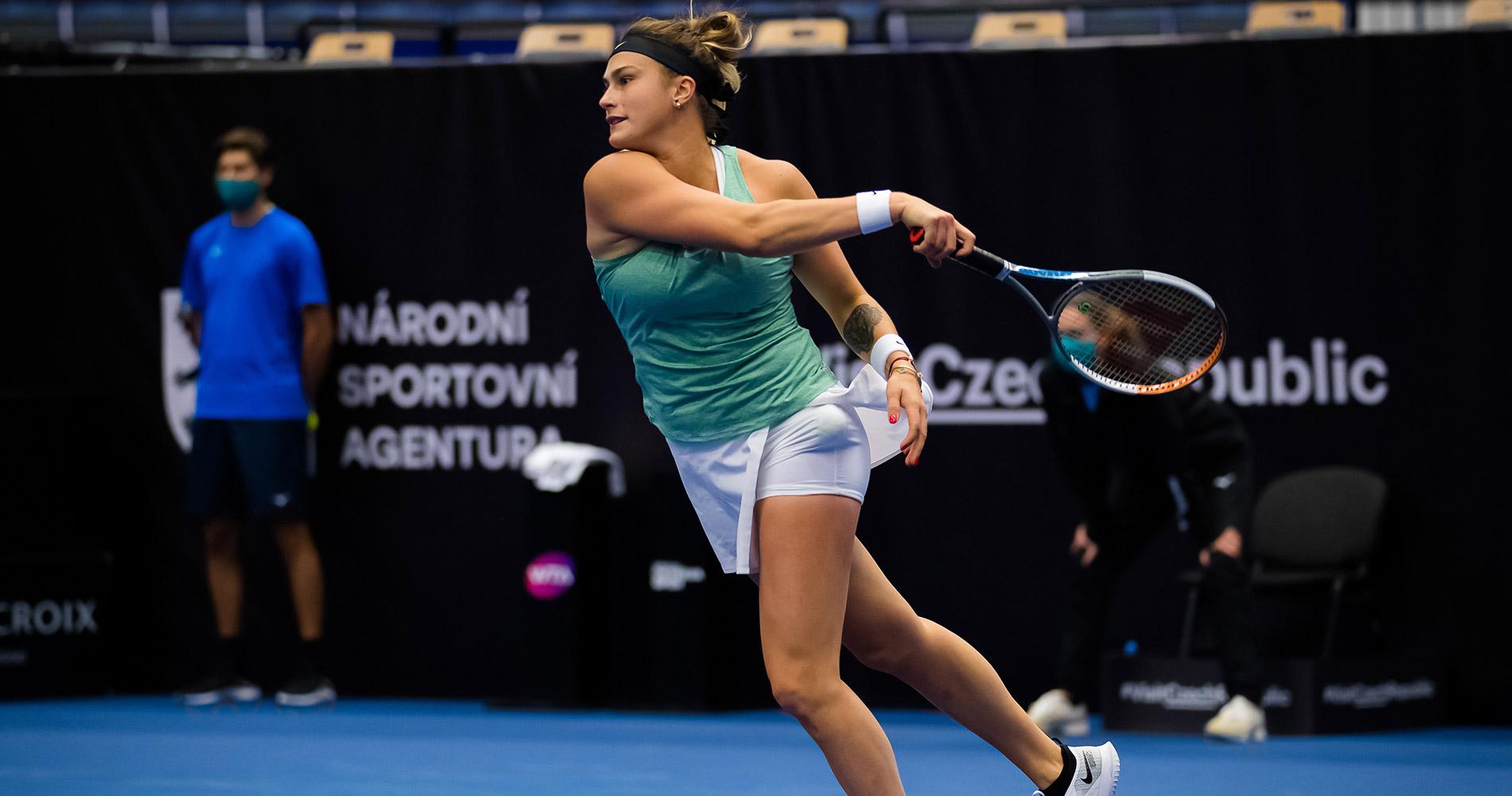 Aryna Sabalenka at the Ostrava Open 2020