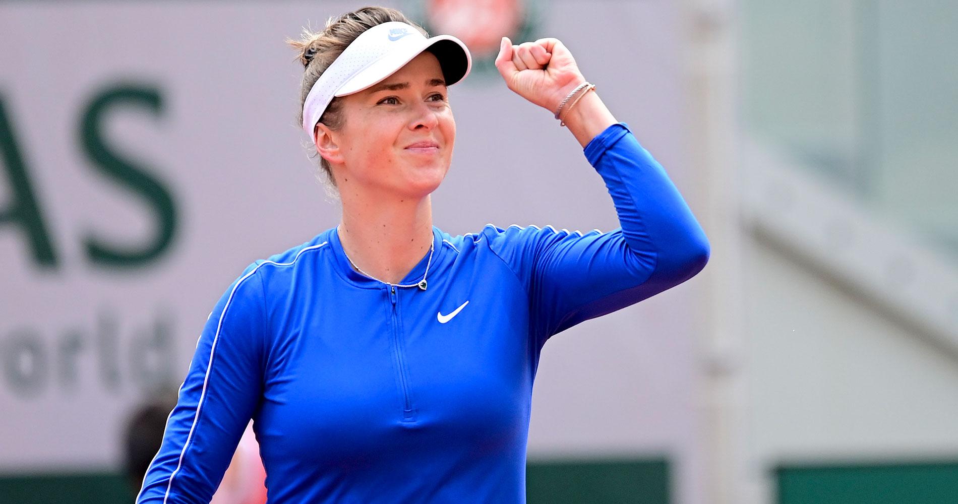 Elina Svitolina at Roland-Garros 2020 fourth round