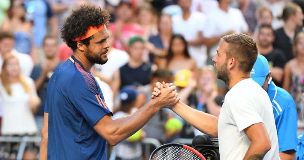 Jo-Wilfried Tsonga & Dan Evans, Australian Open, 2017