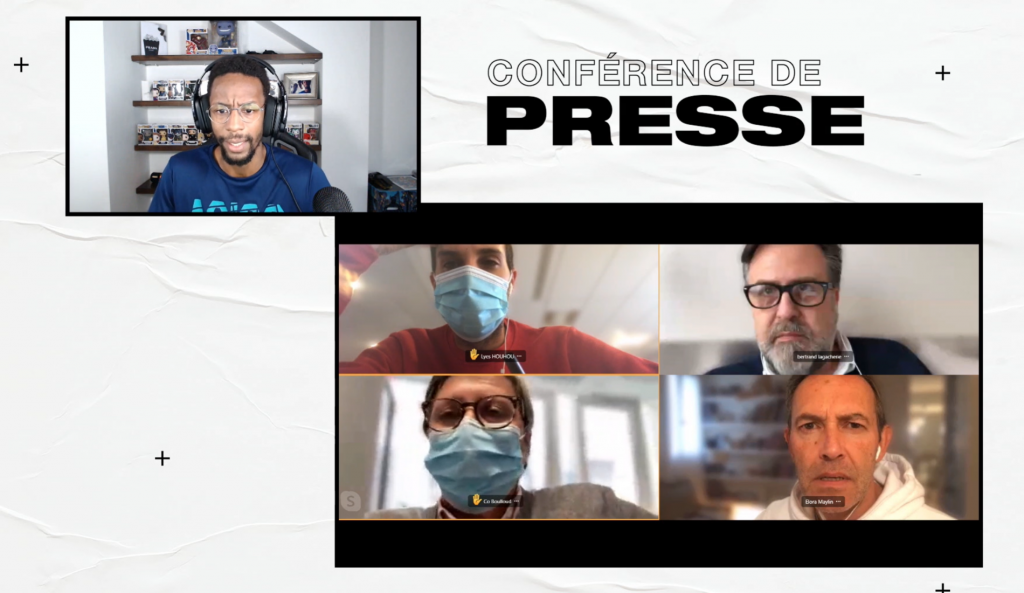 Conférence de presse Twitch - Monfils 2020