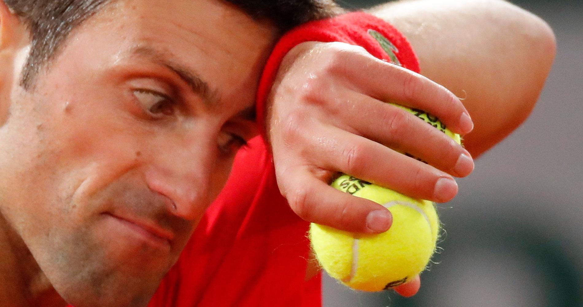 Djokovic at Roland-Garros 2020 final