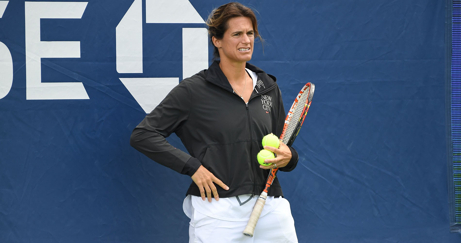 Amelie Mauresmo at US Open 2020
