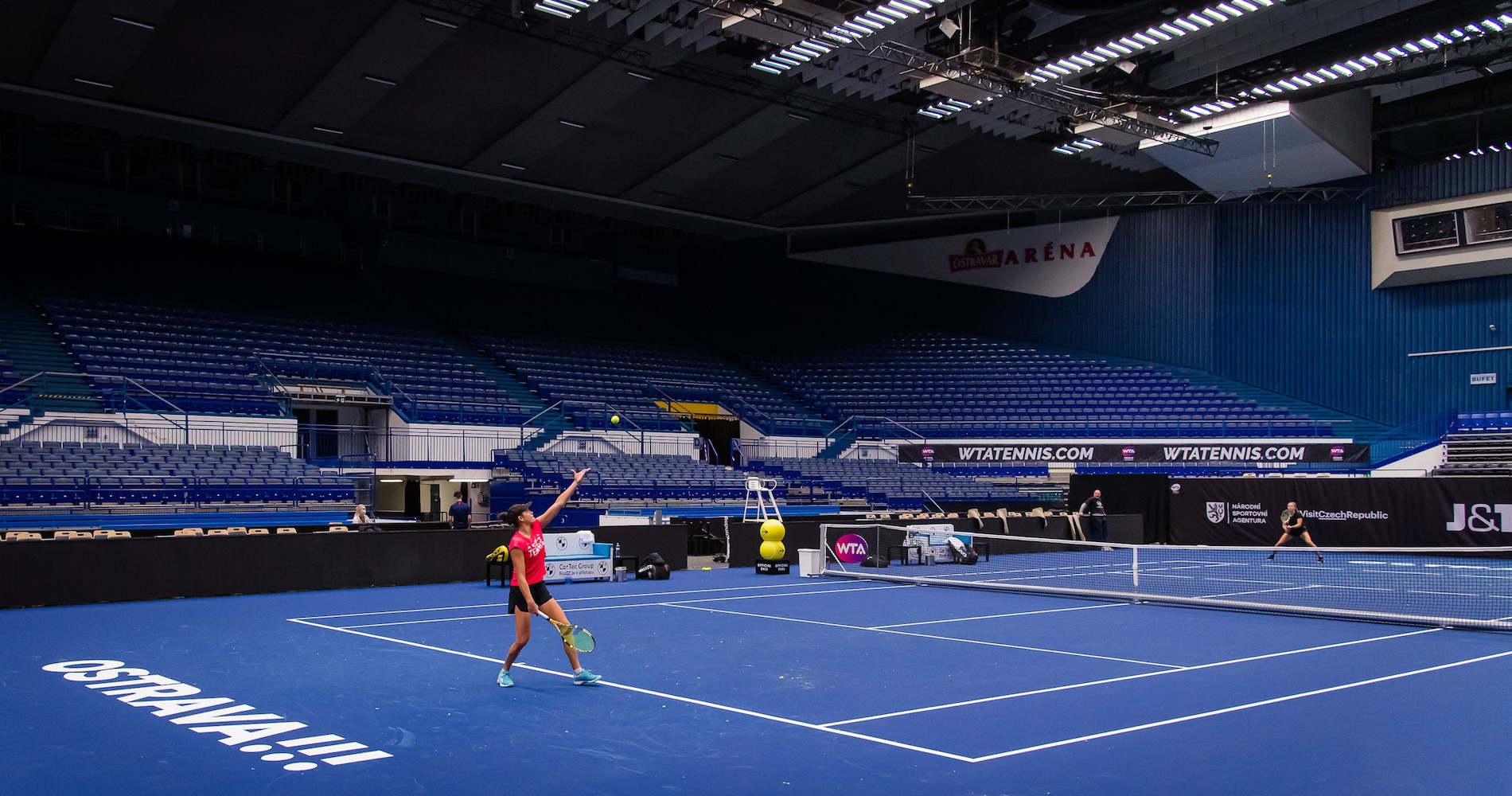 J&T Banka Ostrava Open WTA Premier tennis tournament, empty location, 2020