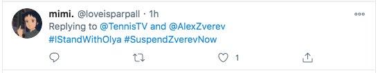 #IStandwithOlya, hashtag on Twitter (Zverev-Sharypova affair)