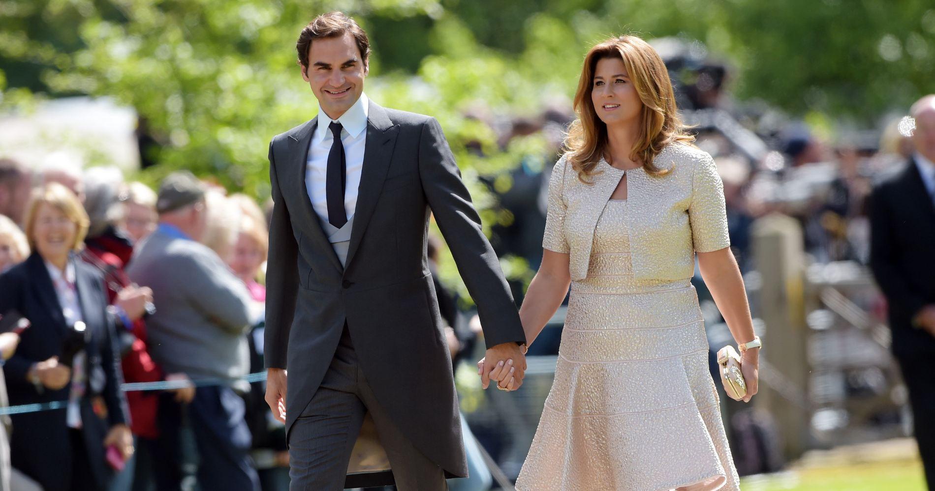 Mirk Vavrinec and Roger Federer