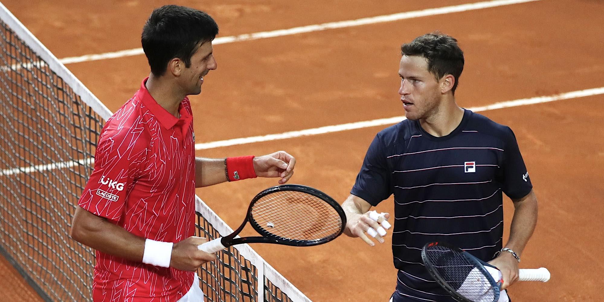 Novak Djokovic, Diego Schwartzman, sept. 2020