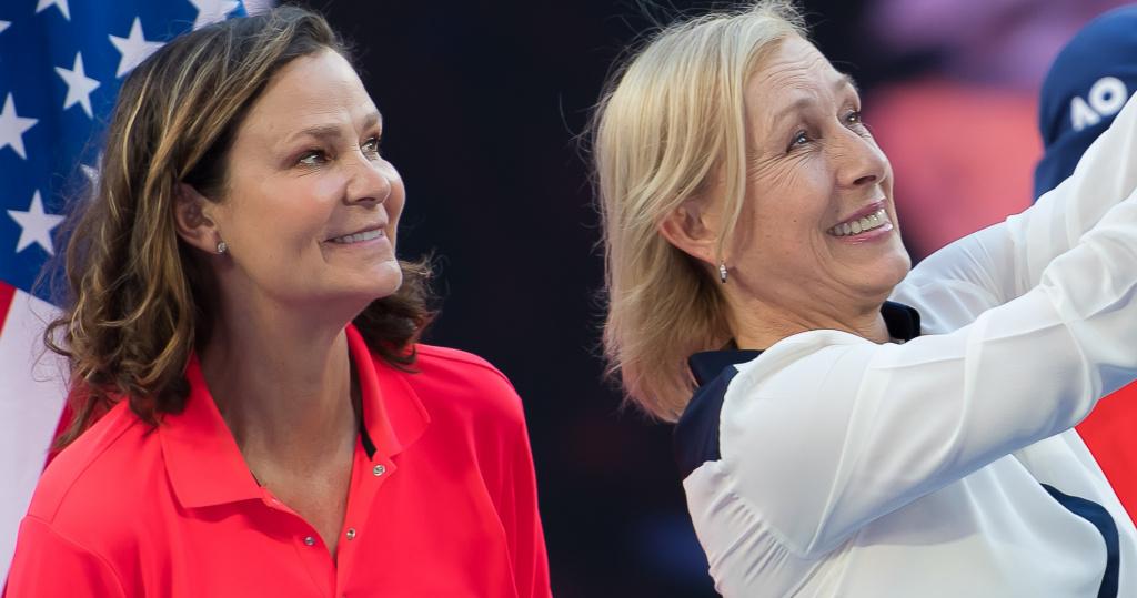Shriver and Navratilova