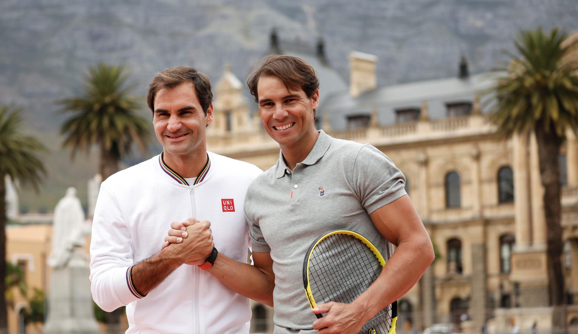 Nadal et Federer - Cape Town 2020