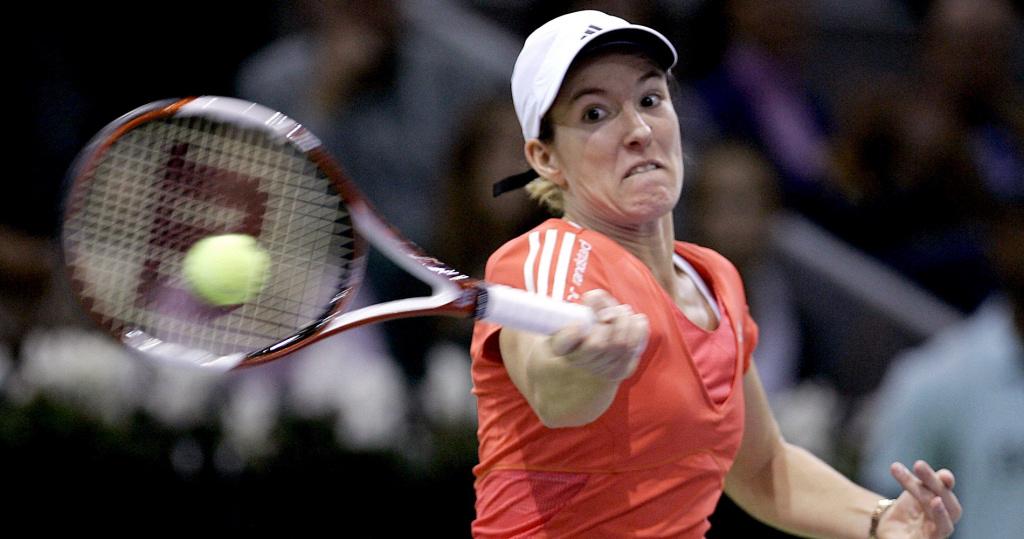 Justine Hénin lors de la finale