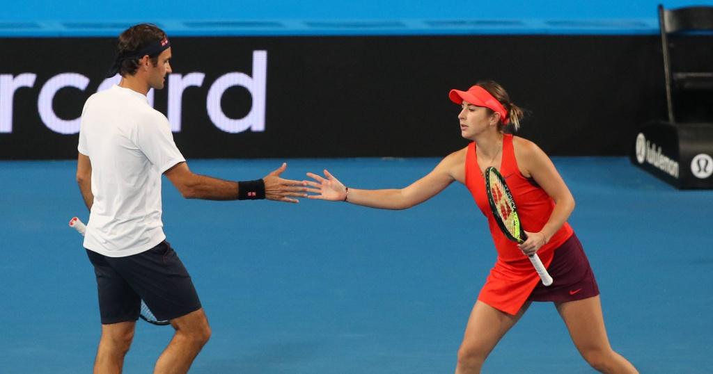 Roger Federer et Belinda Bencic, Hopman Cup 2019