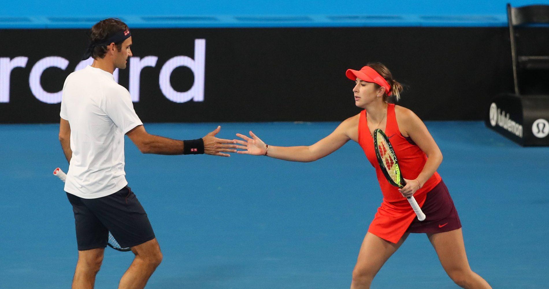 Roger Federer et Belinda Bencic, Hopman Cup