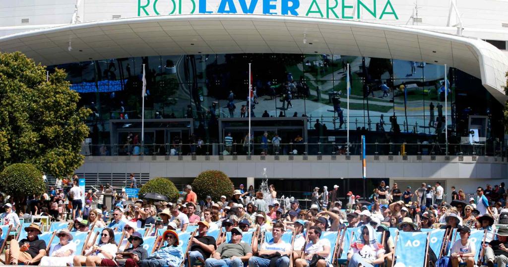 Outside the Rod Laver Arena, Australian Open, 2020