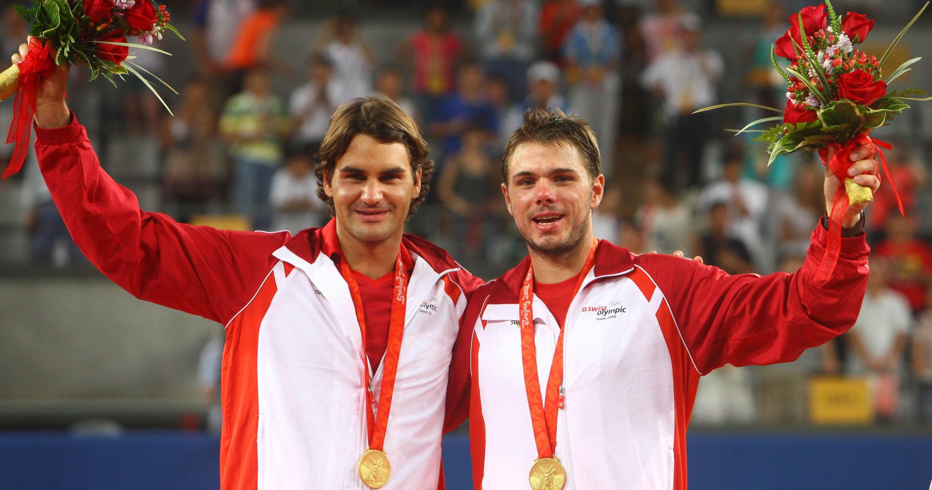 Roger Federer et Stan Wawrinka, Jeux Olympiques de Pékin 2008