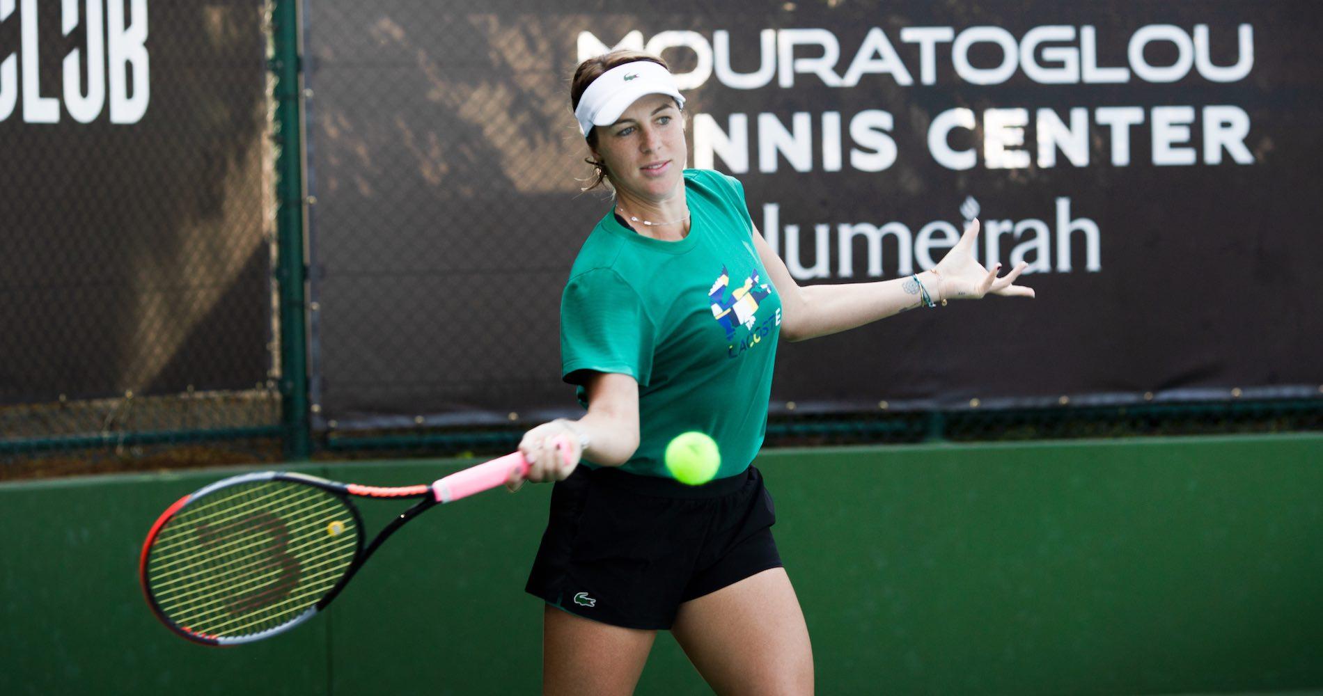 Anastasia Pavluychenkova, Mouratoglou tennis center, Dubaï, dec. 2020