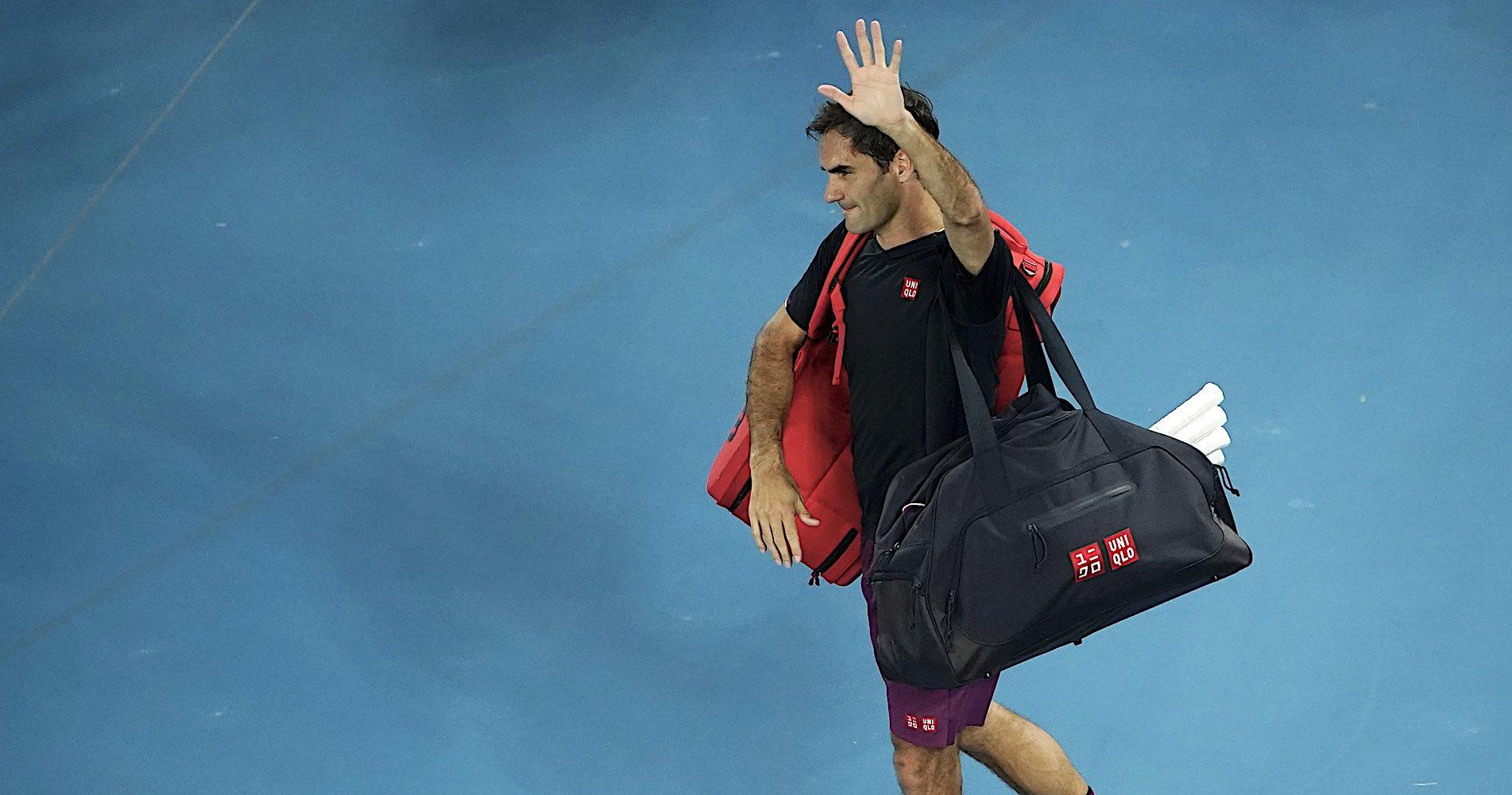 Roger Federer, Melbourne, 2020.