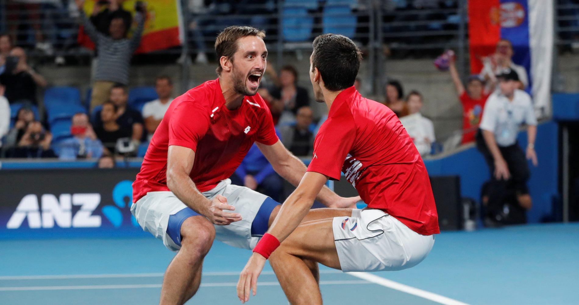 Viktor Troicki and Novak Djokovic, ATP Cup, 2020
