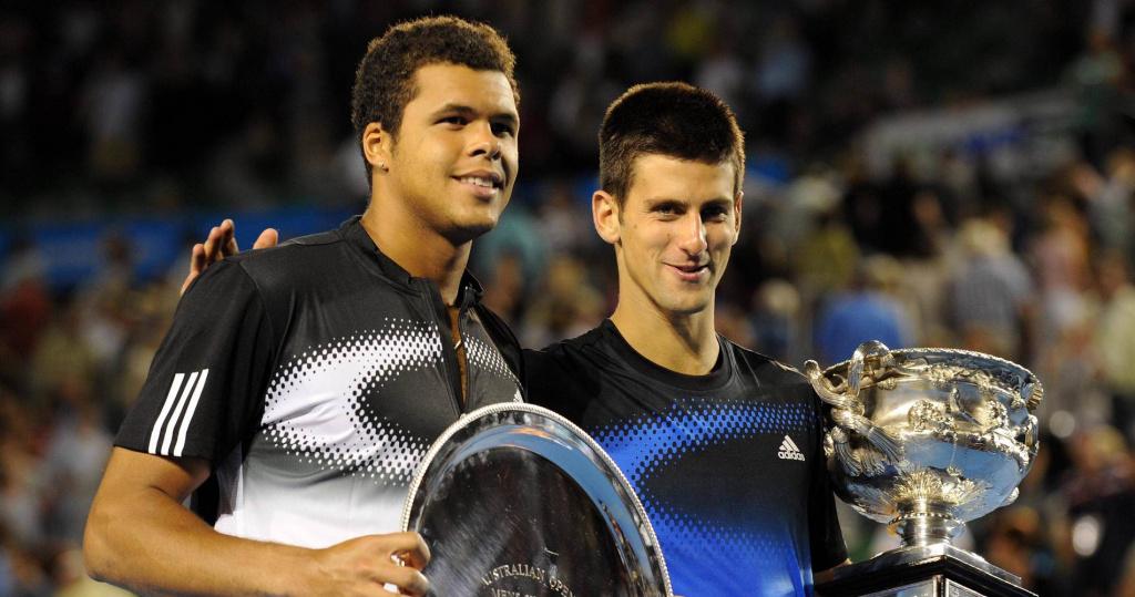 Tsonga and Djokovic, Australian Open, 2008