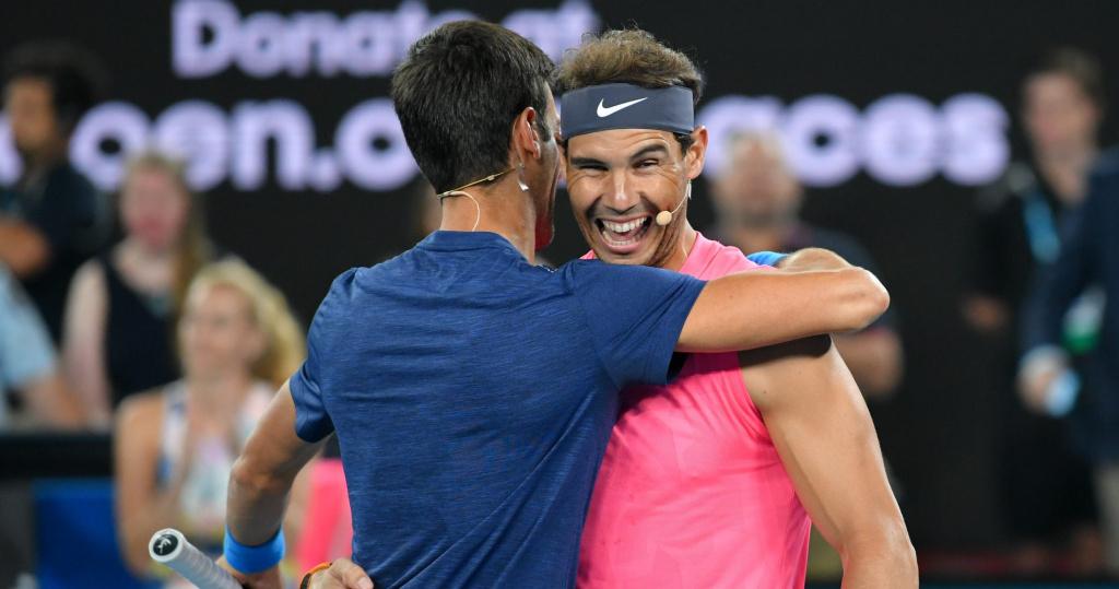 Novak Djokovic and Rafael Nadal, Melbourne, 2020