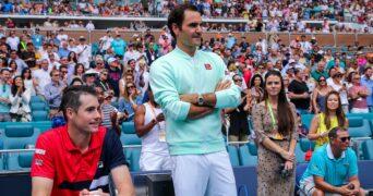 Isner and Federer, Miami 2019