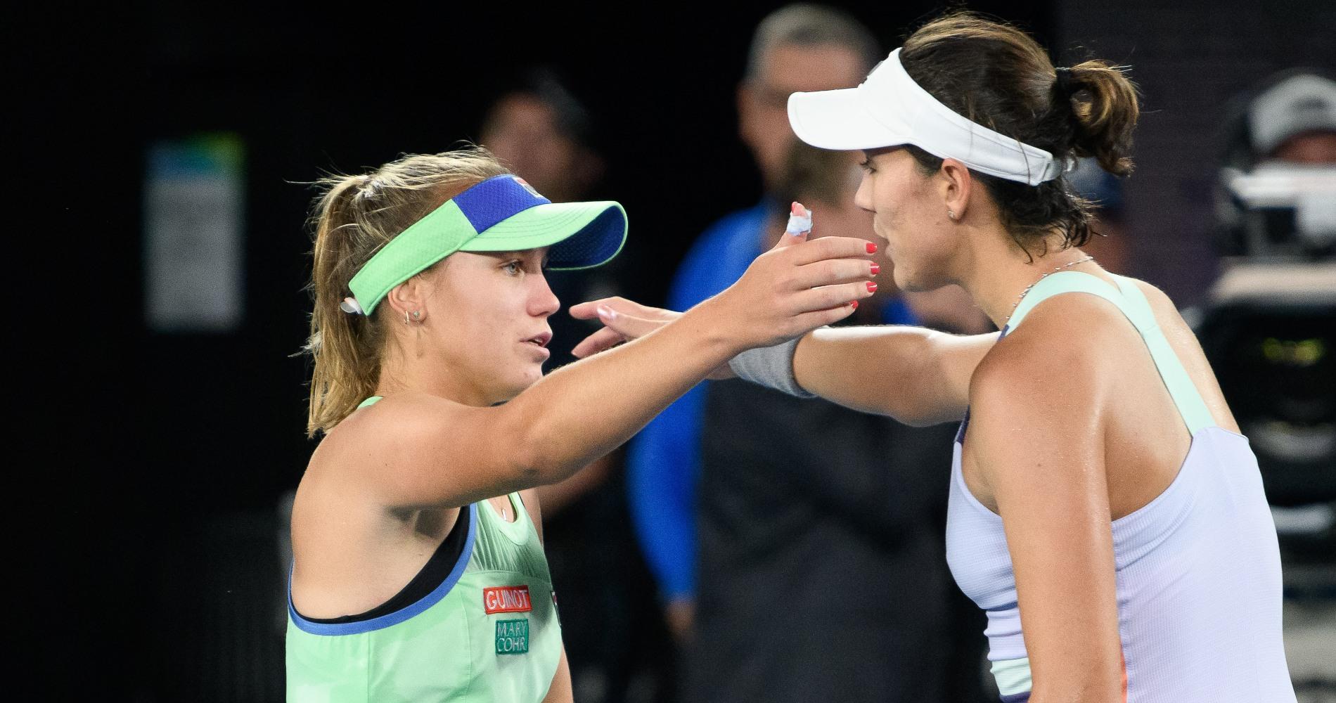 Kenin and Muguruza, Australian Open 2020