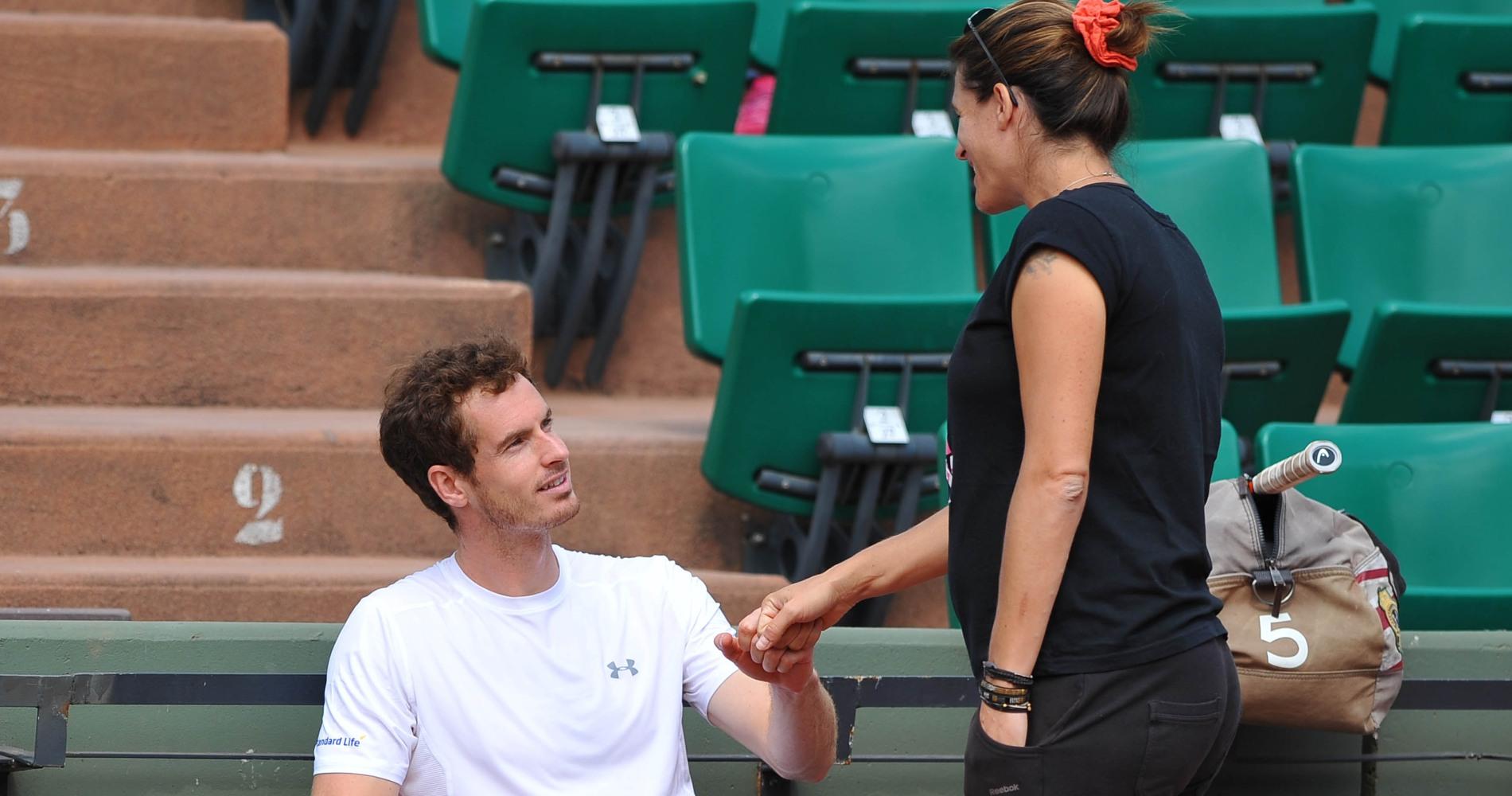Amélie Mauresmo et Andy Murray, Roland-Garros 2015
