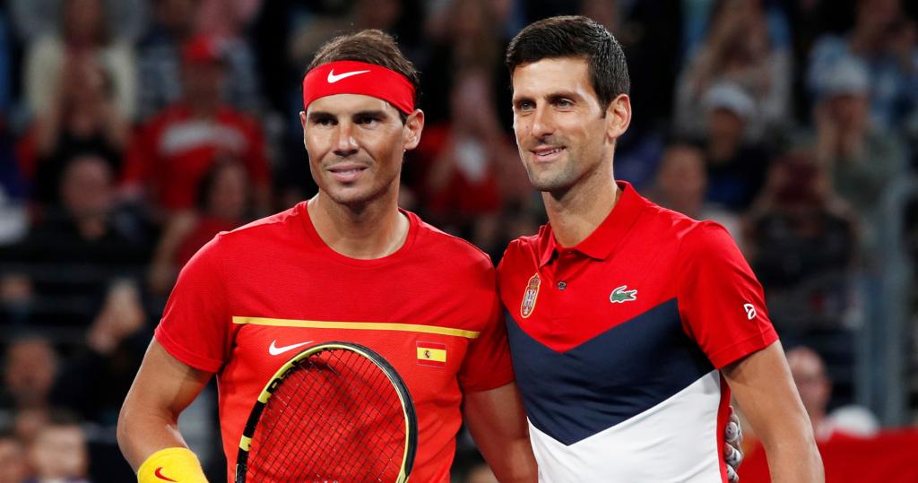 Novak Djokovic et Rafael Nadal - ATP Cup 2020