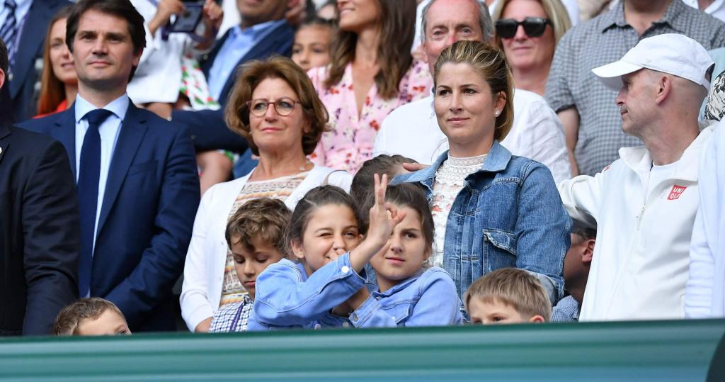 Mirka Federer et ses enfants