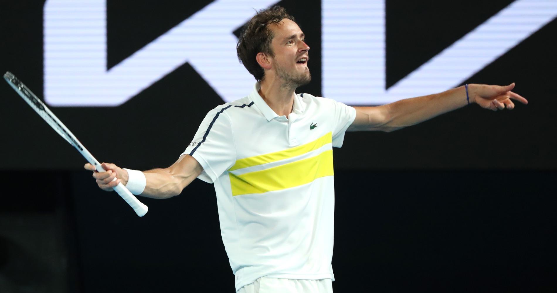 Daniil Medvedev, Open d'Australie 2021 demi-finale