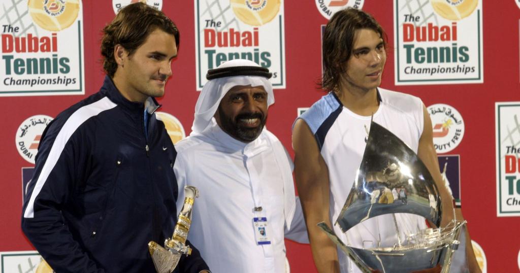 Roger Federer & Rafael Nadal, Dubai, 2006