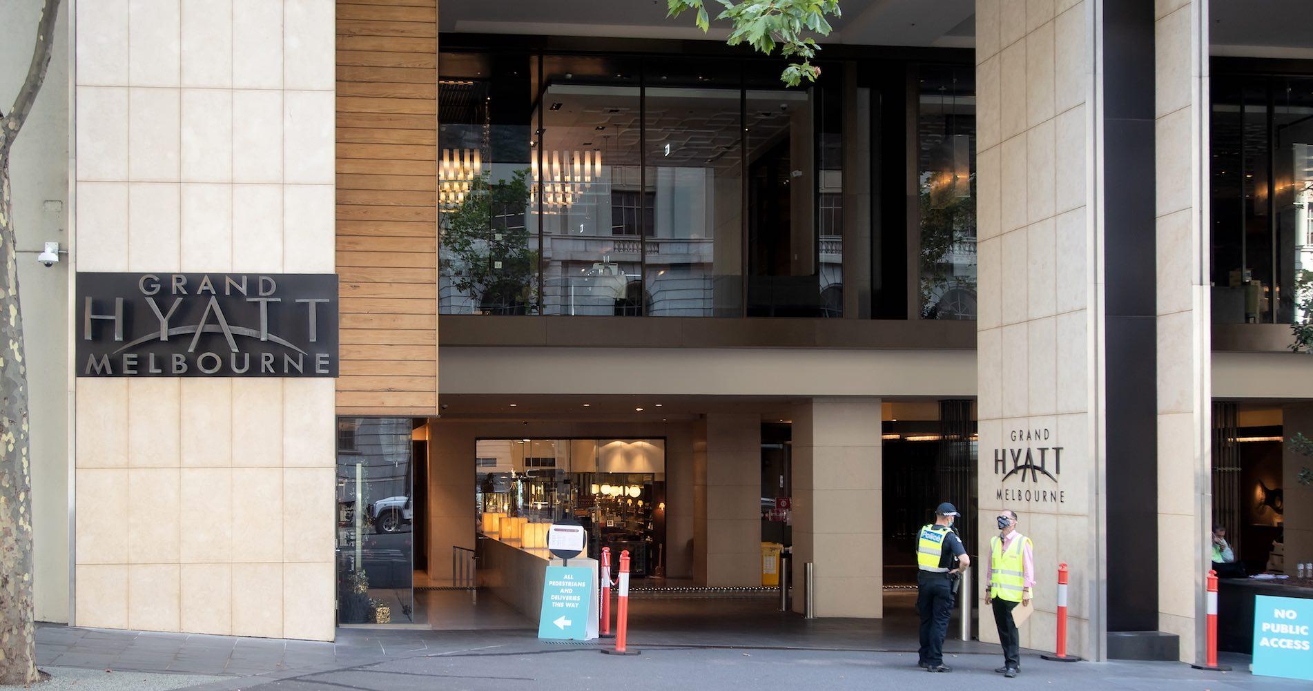 Grand Hyatt hotel, Melbourne, 2021