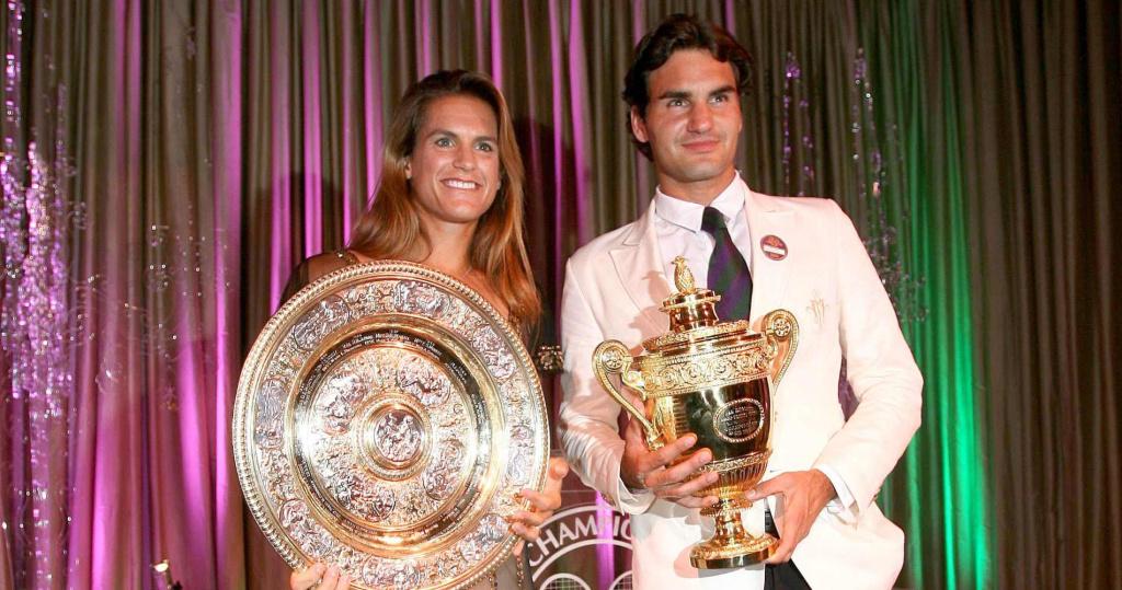 Amélie Mauresmo & Roger Federer, 2006 Wimbledon champions