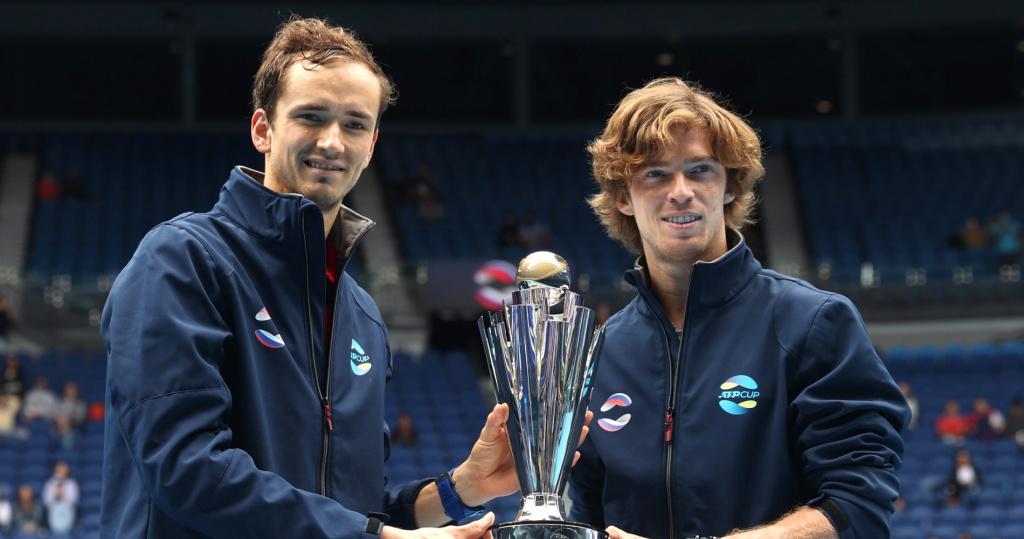 Daniil Medvedev and Andrey Rublev, ATP Cup, 2021