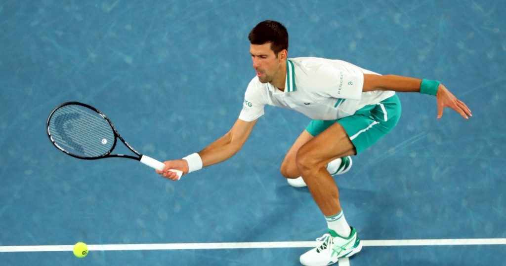 Novak Djokovic AO Final volley