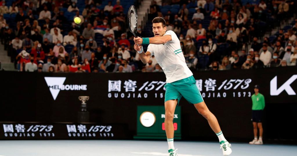 Novak Djokovic return AO Final