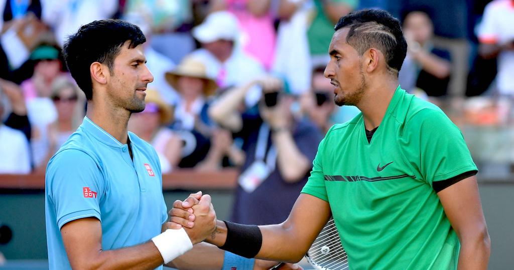 Novak Djokovic, Nick Kyrgios, Indian Wells 2017