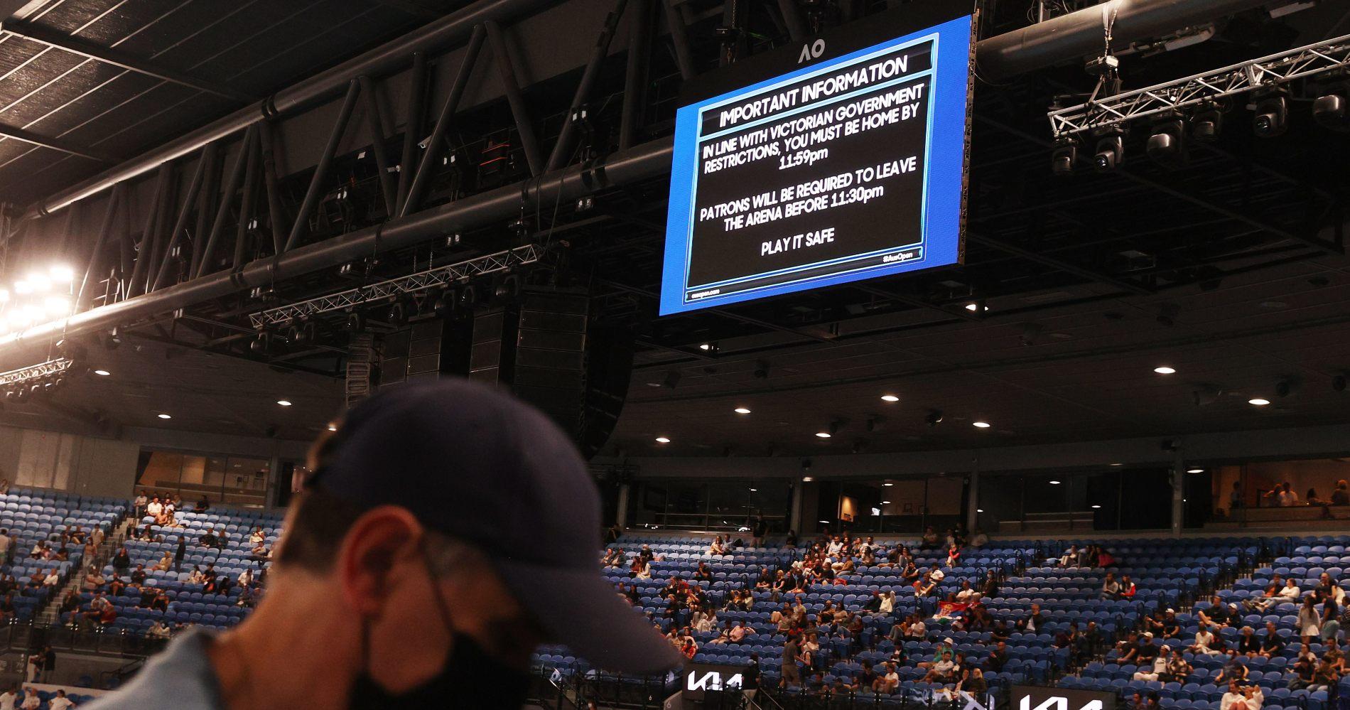 Australian Open 2021 crowd