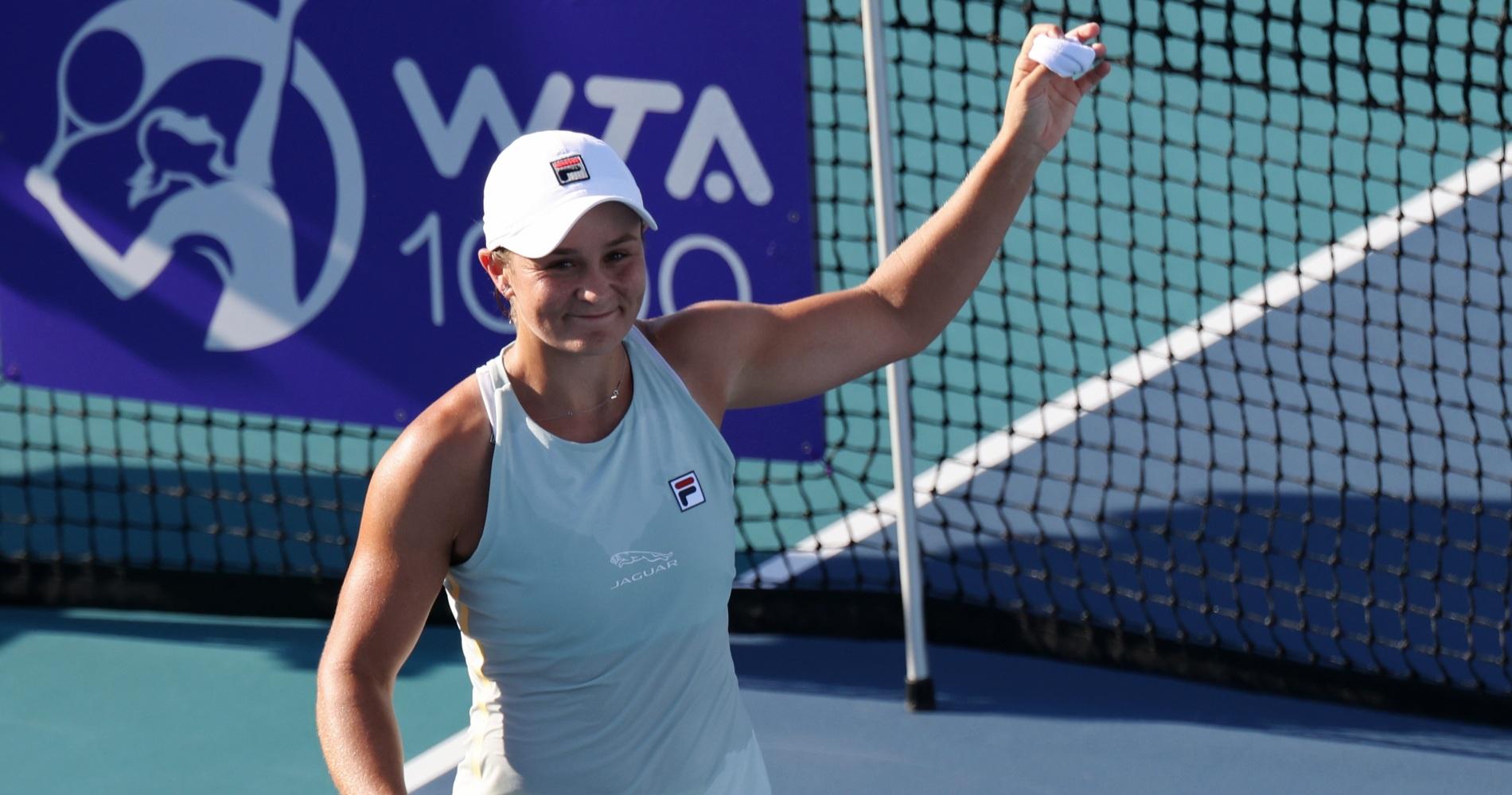 Ashleigh Barty at the 2021 Miami Open