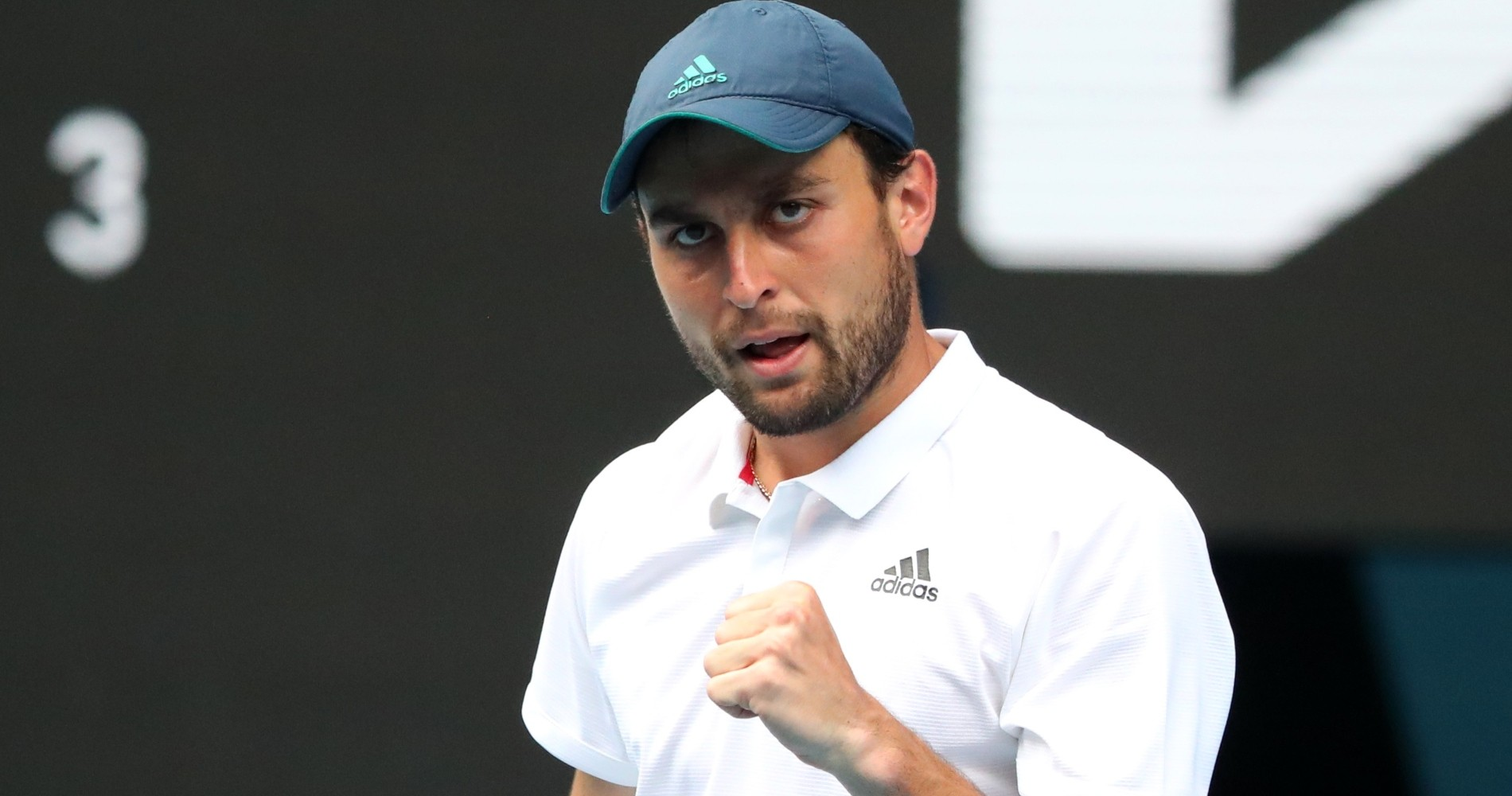 Aslan Karatsev at the 2021 Australian Open