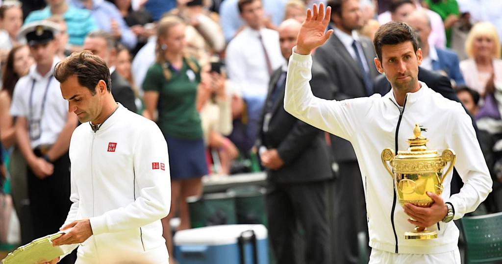 Roger Federer, Novak Djokovic, Wimbledon 2019