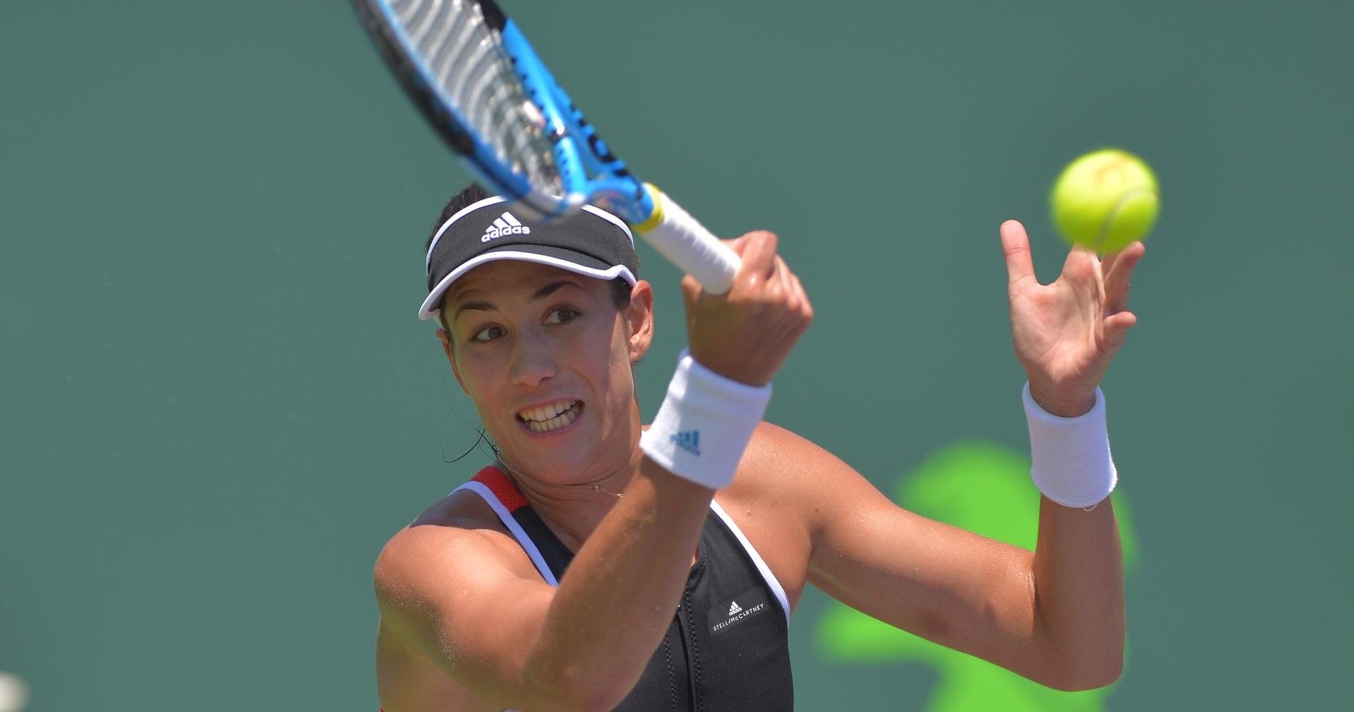 Garbine Muguruza at the Miami Open