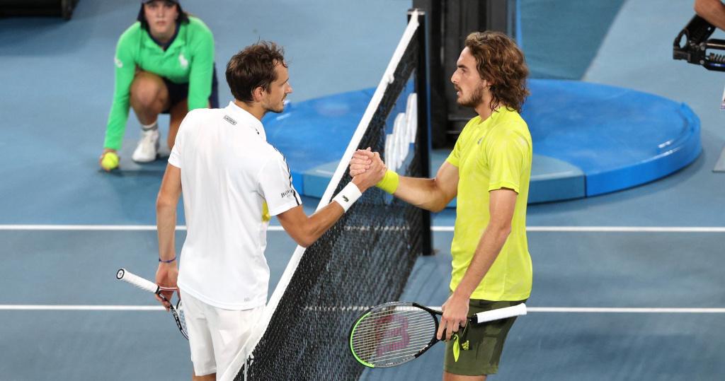 Daniil Medvedev and Stefanos Tsitsipas, Australian Open, 2021