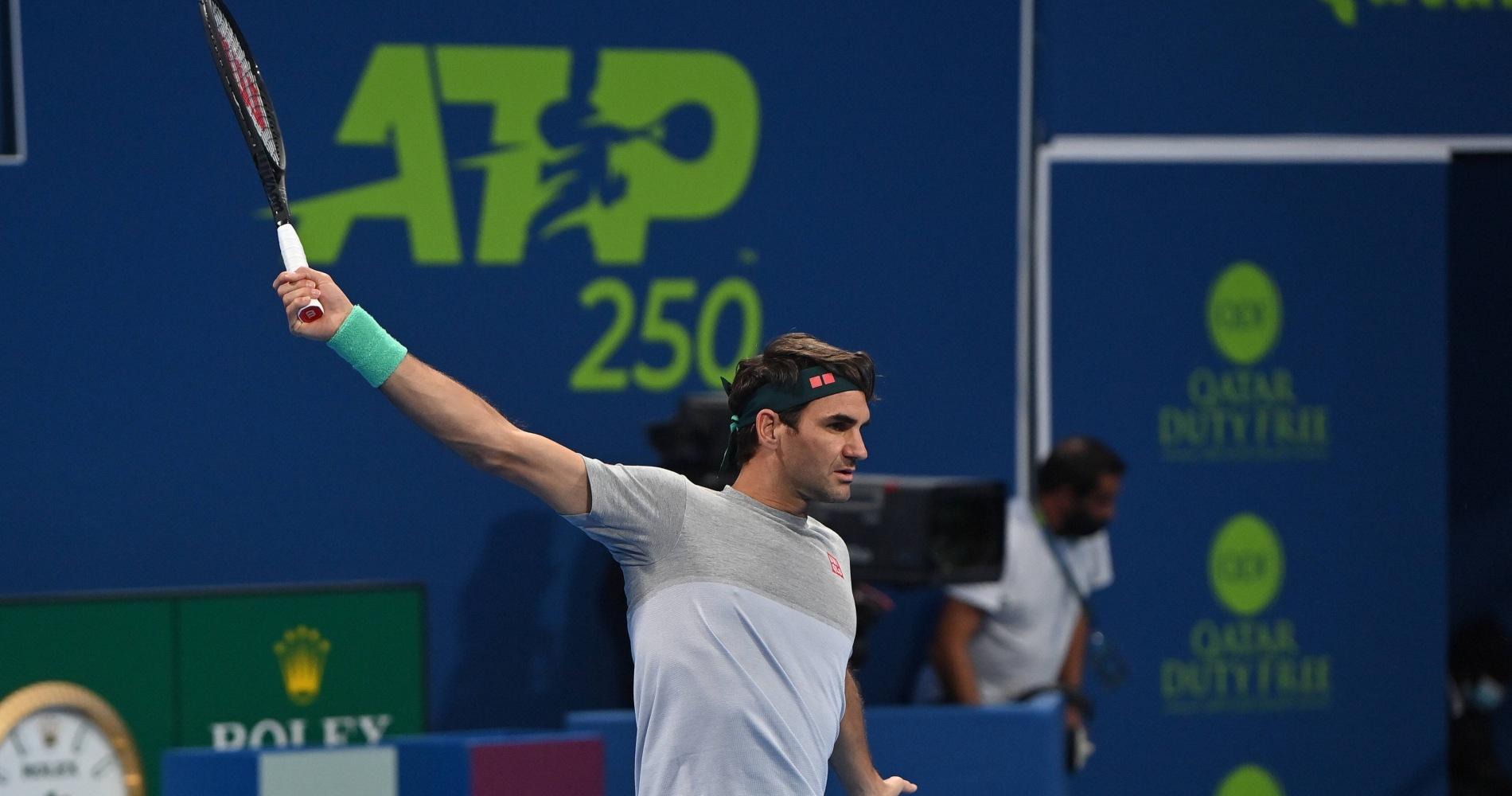 Roger Federer Doha 2021
