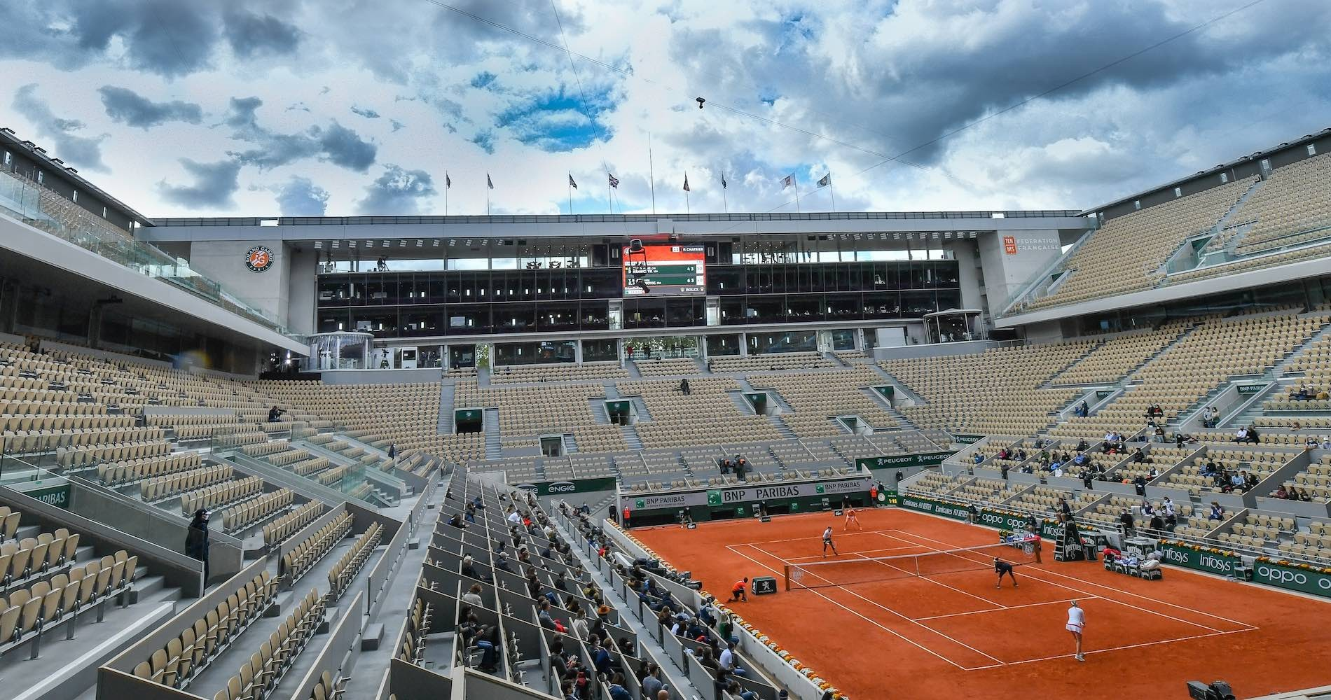 Roland-Garros, court Philippe-Chatrier