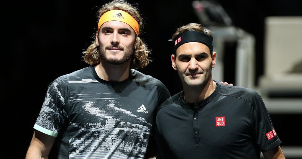Stefanos Tsitsipas, Roger Federer 2019