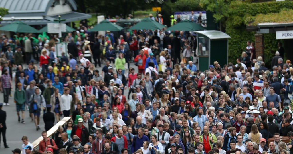 Wimbledon crowd