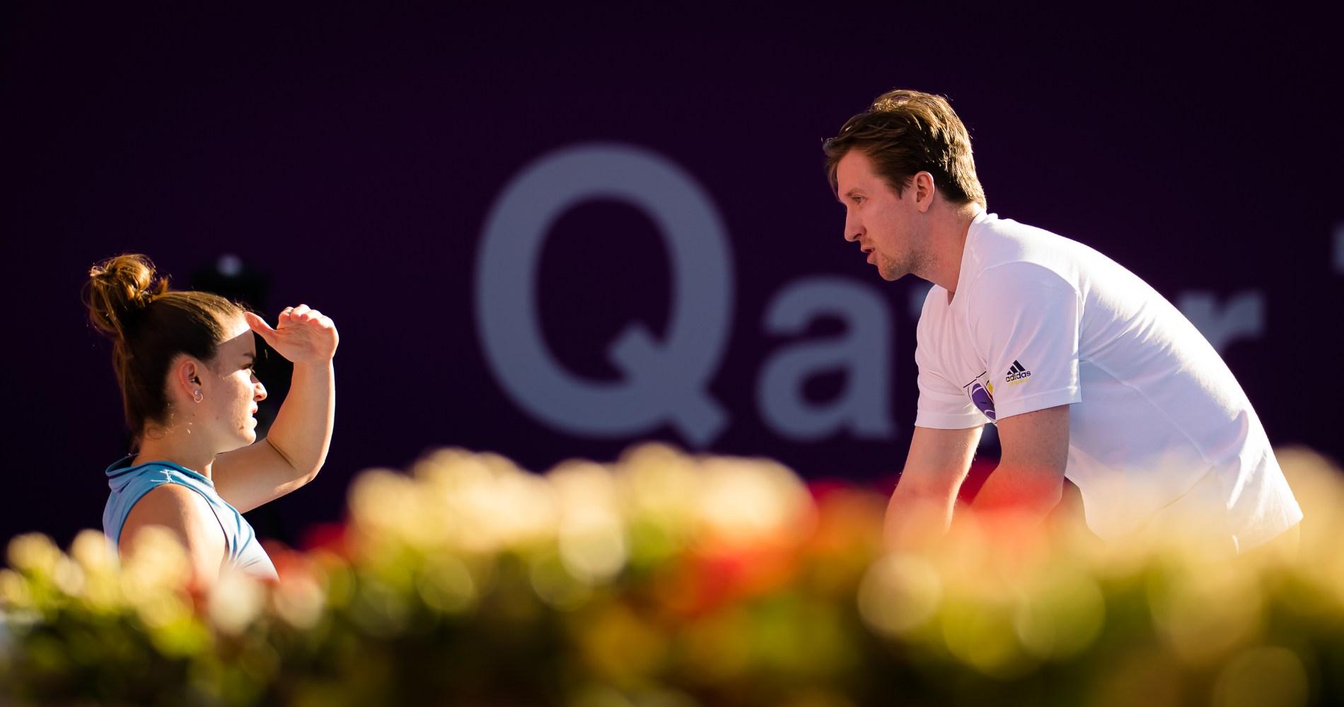 Maria Sakkari, Tom Hill, Abu Dhabi 2021