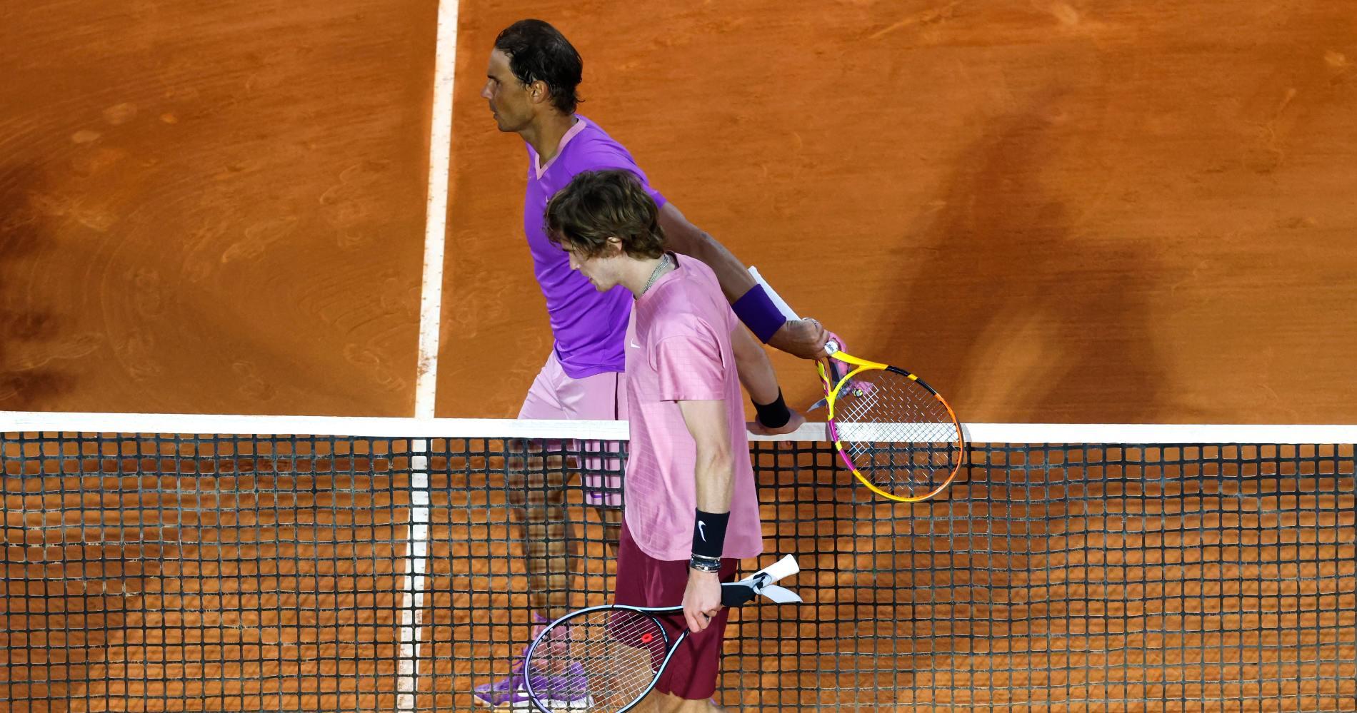 Nadal et Rublev, Monte-Carlo 2021