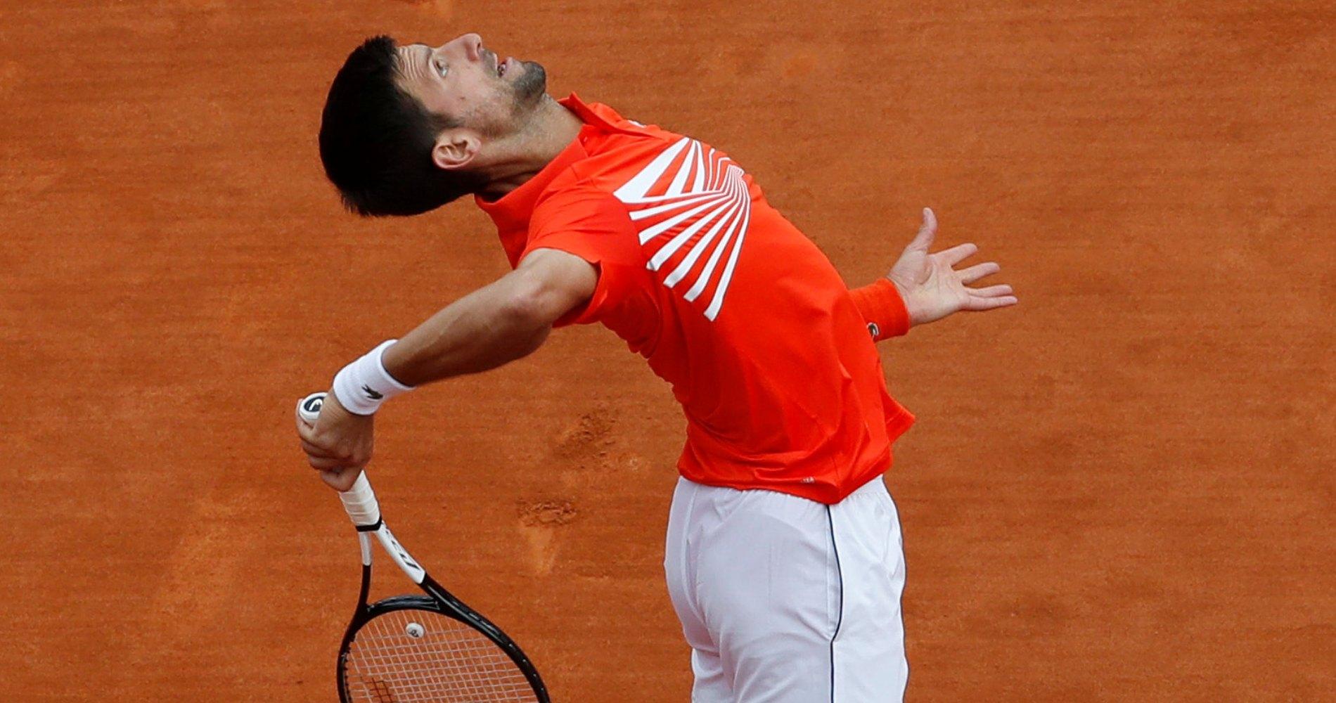 Novak Djokovic in Monte Carlo in 2019