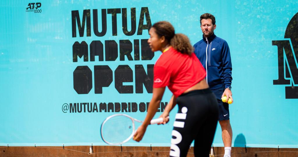 Naomi Osaka, Wim Fissette, Madrid 2021